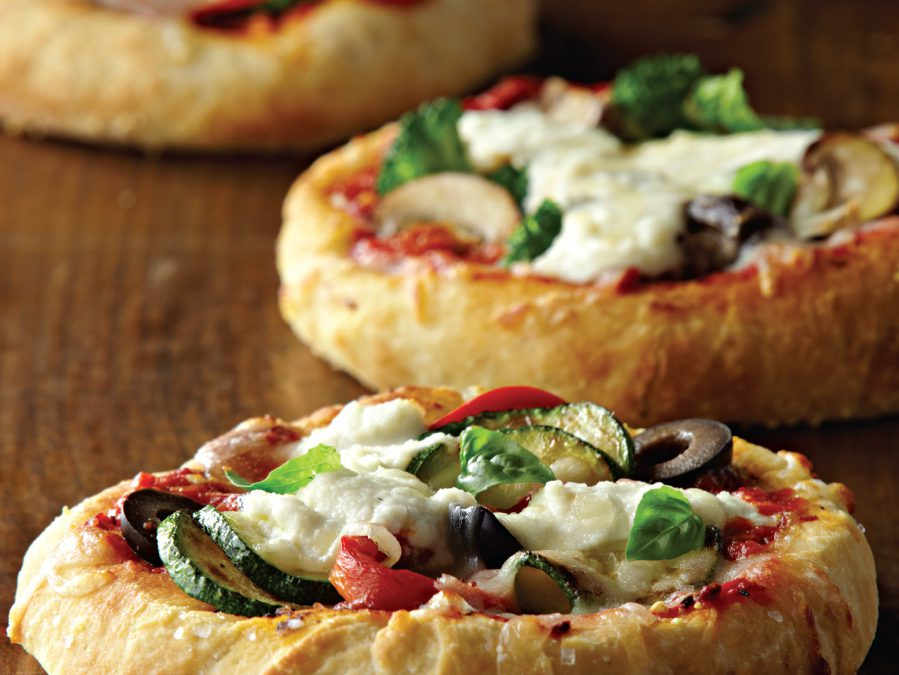 Assorted Mini Pizzas with Mozzarella and Ricotta