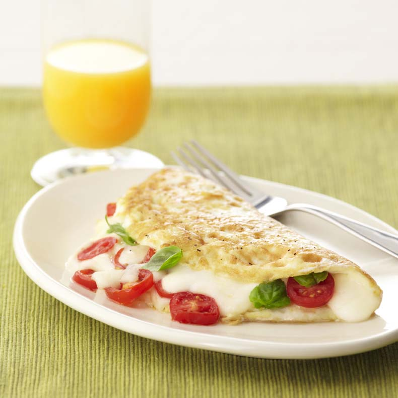 Caprese egg white omelet galbani cheese authentic italian cheese caprese egg white omelet forumfinder Image collections