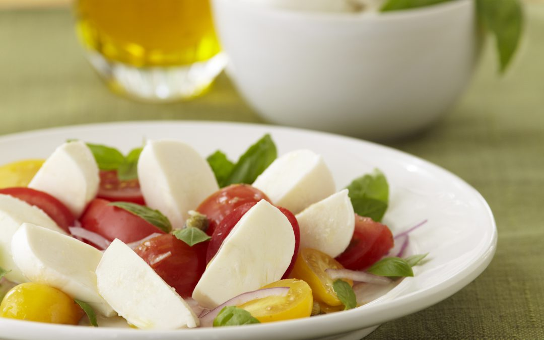 Caprini Salad with Fresh Mozzarella