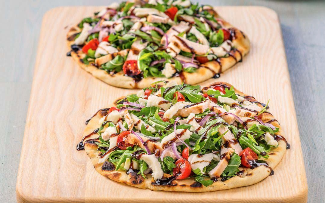 Chicken Milanese Grilled Pizza