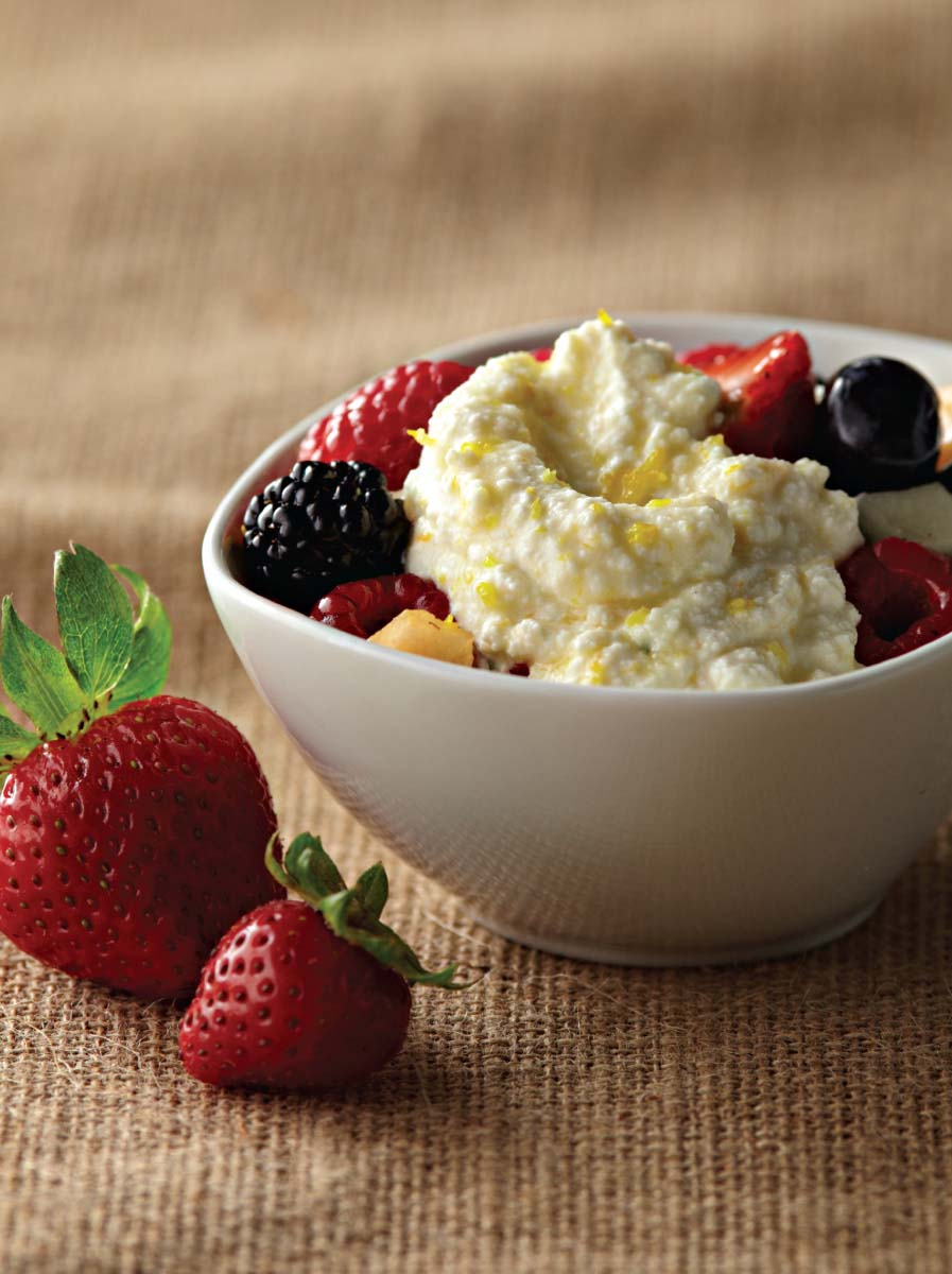 Fresh Fruit With Ricotta Fresh Mint And Honey Galbani