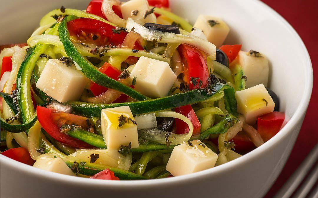 """Zoodle """"Pasta"""" Salad"""
