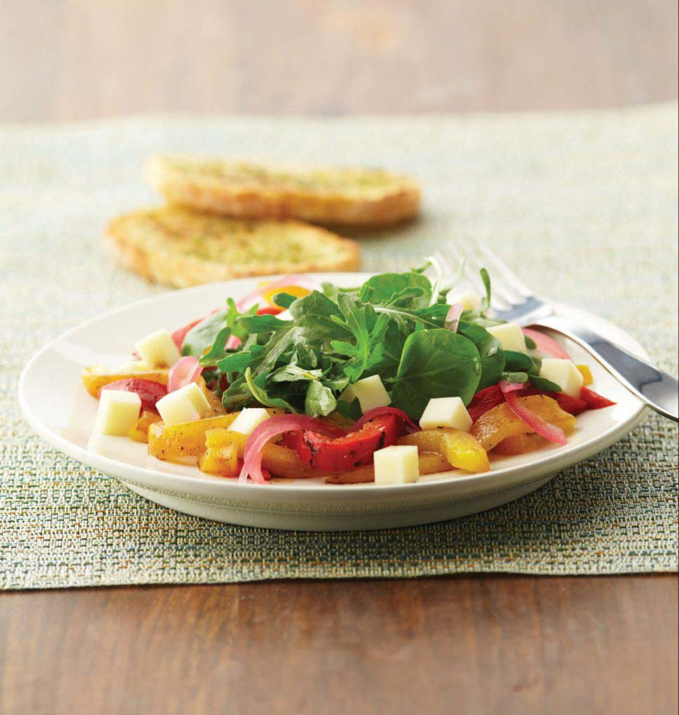 Mozzarella, Roasted Pepper, and Arugula Salad - Galbani Cheese ...