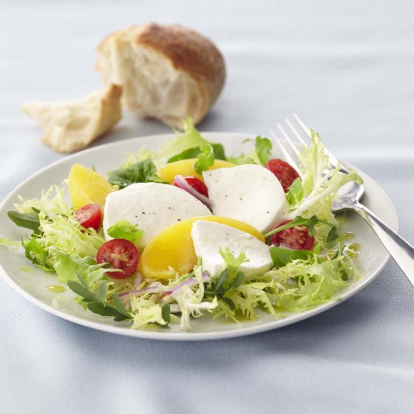 Red Haven Peach & Caprese Salad   Galbani Cheese   Authentic Italian ...