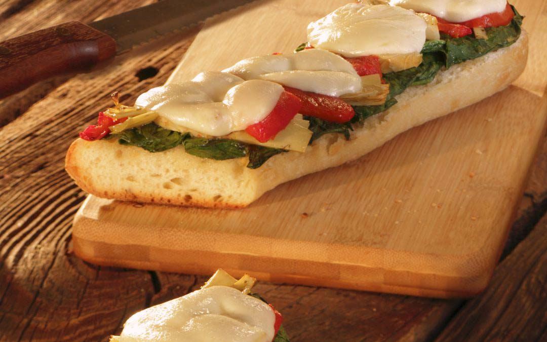 Spinach Artichoke French Bread Pizza