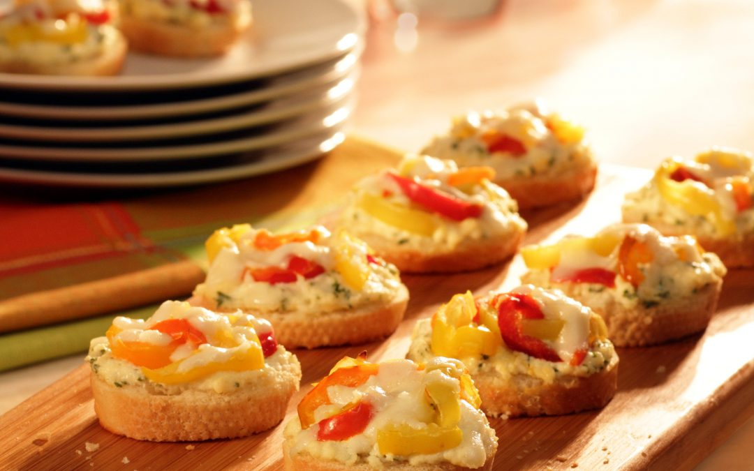 Unstuffed Hot Pepper Crostini