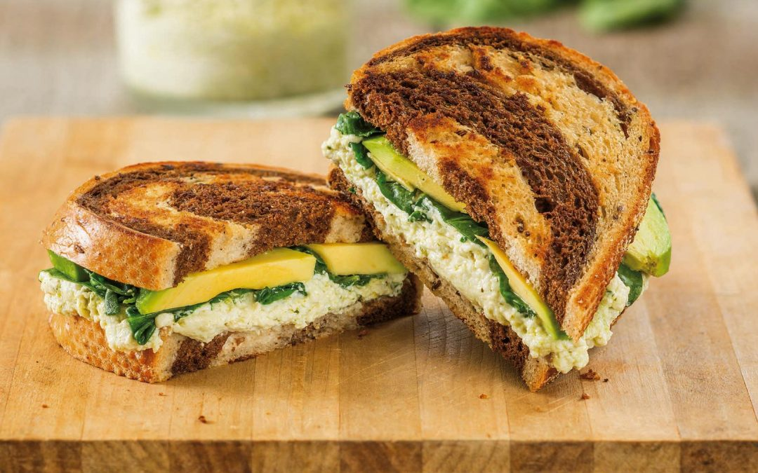 Spinach Pesto with Avocado Grilled Cheese