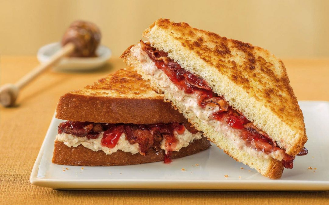 Ricotta Almond Butter and Jam Grilled Cheese