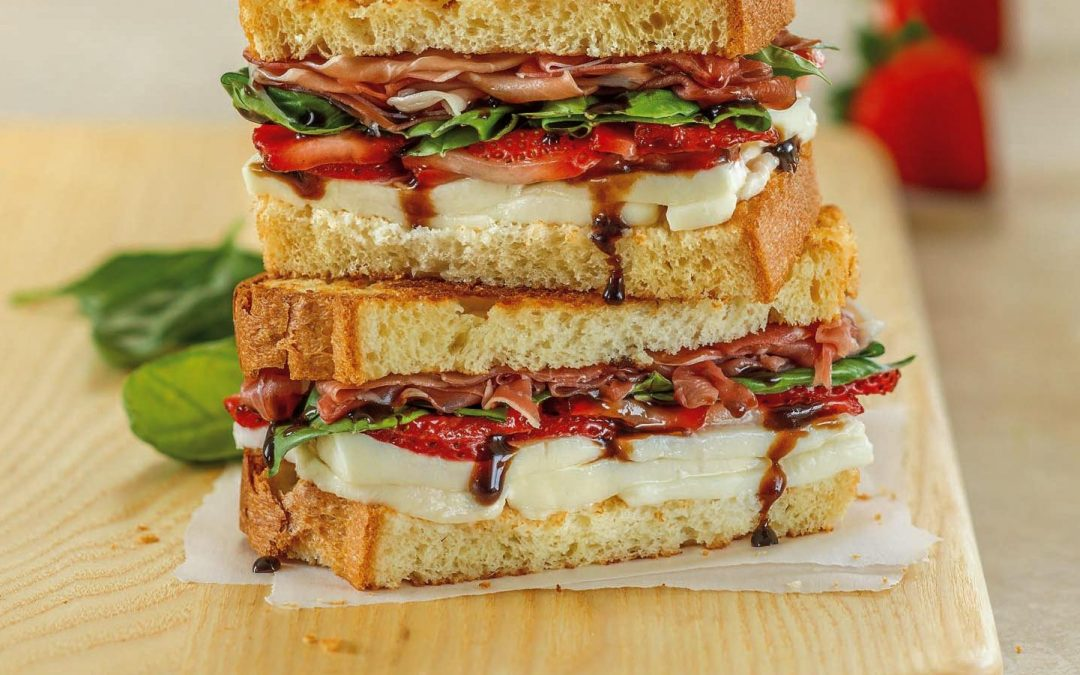 Strawberry Basil Prosciutto Grilled Cheese