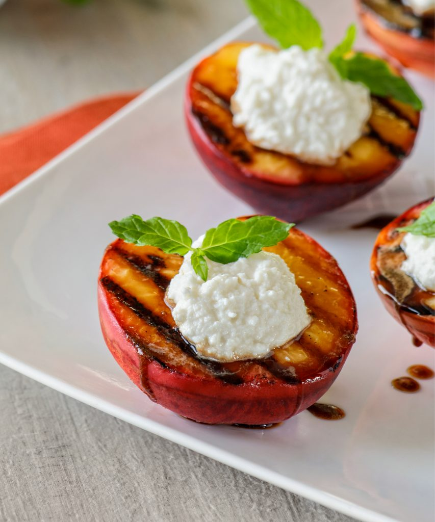 Grilled Peaches with Ricotta and Balsamic | Galbani Cheese | Authentic ...