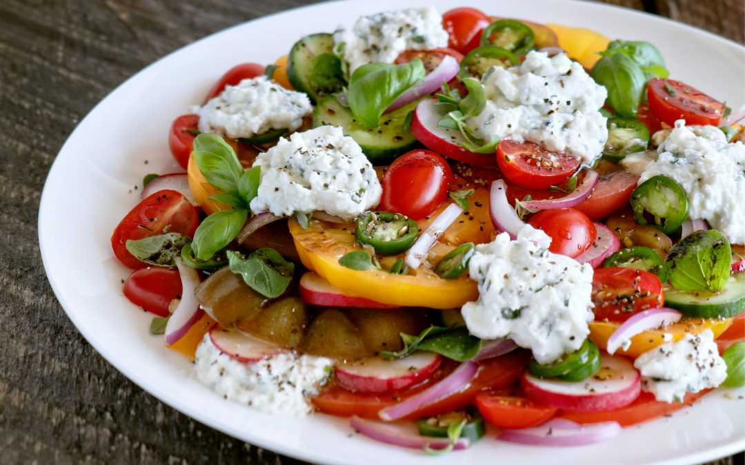 Heirloom Tomato Salad with Ricotta & Balsamic