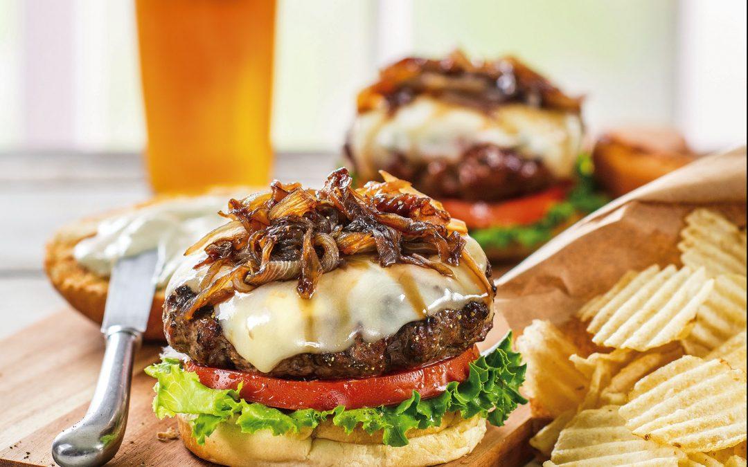 Galbani Asiago Cheeseburger with Basil Mayonnaise