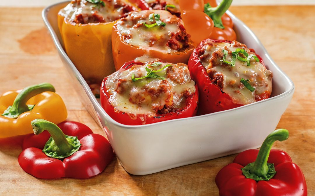 Lasagna Style Stuffed Peppers with a Twist