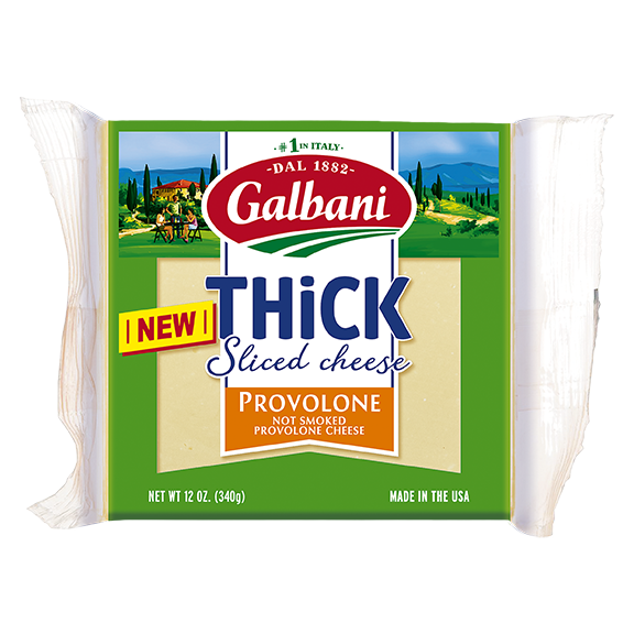 Thick Sliced Provolone Square Pack