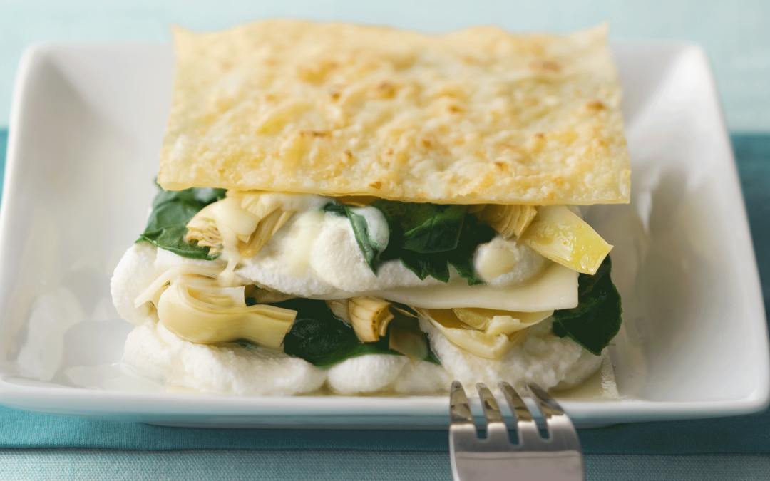 Spinach, Artichoke, and Ricotta Lasagna