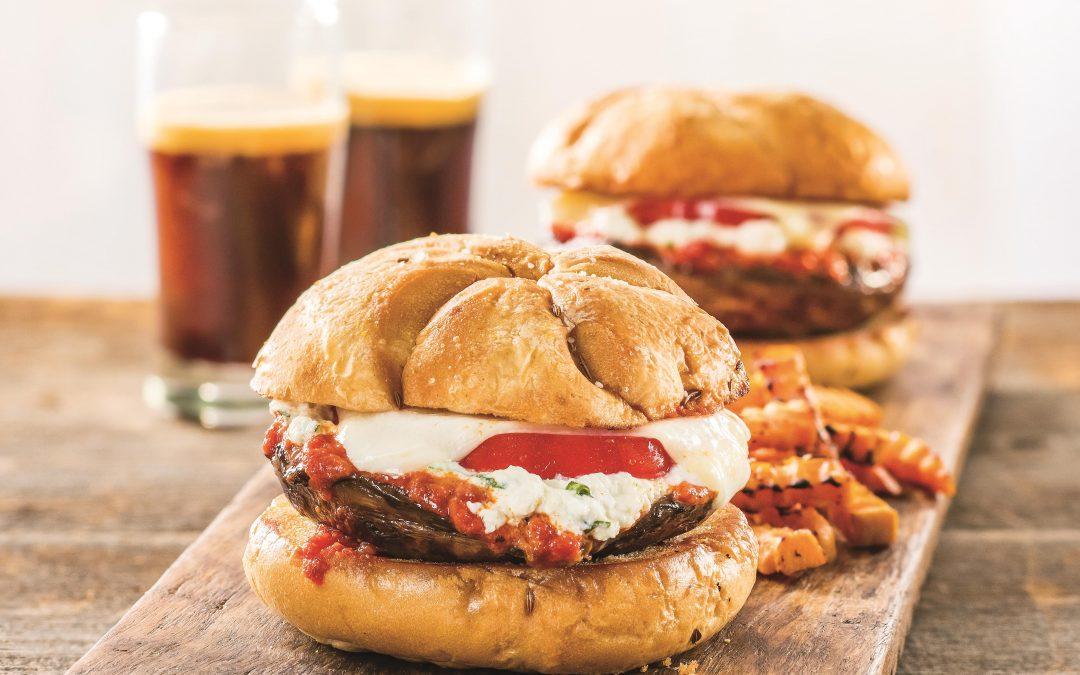 Stuffed Portobello Burger