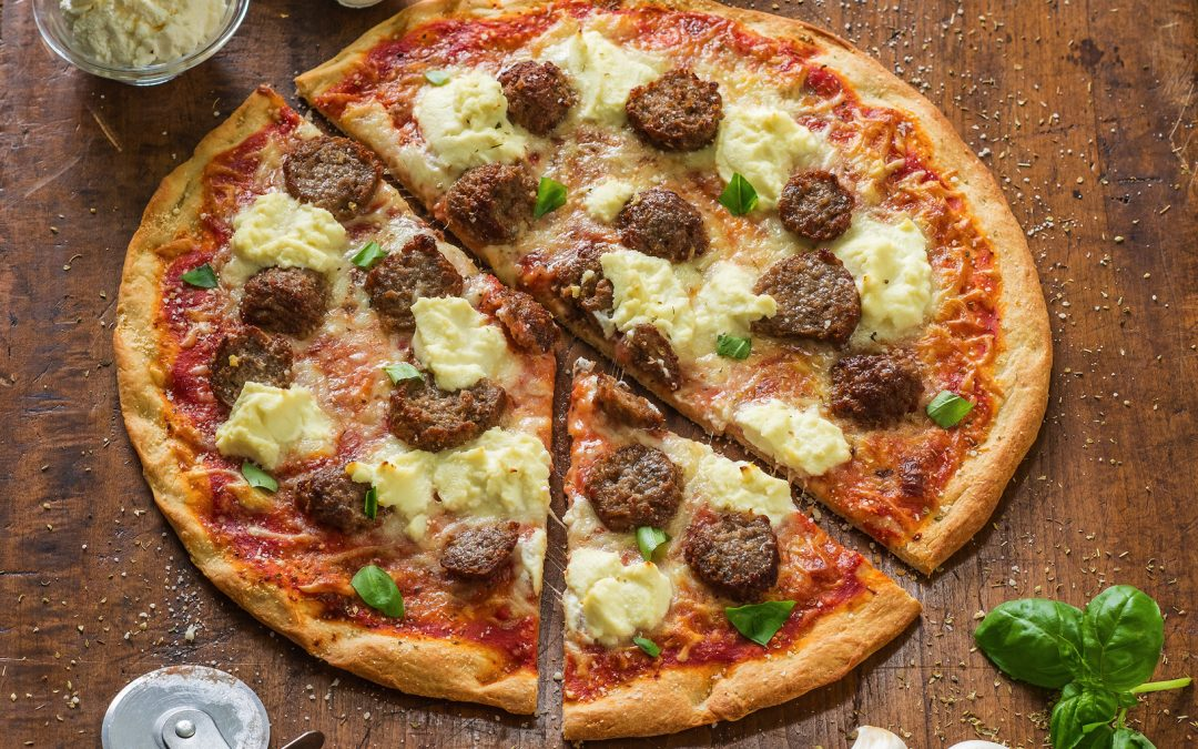 Meatball Parmigiana Pizza