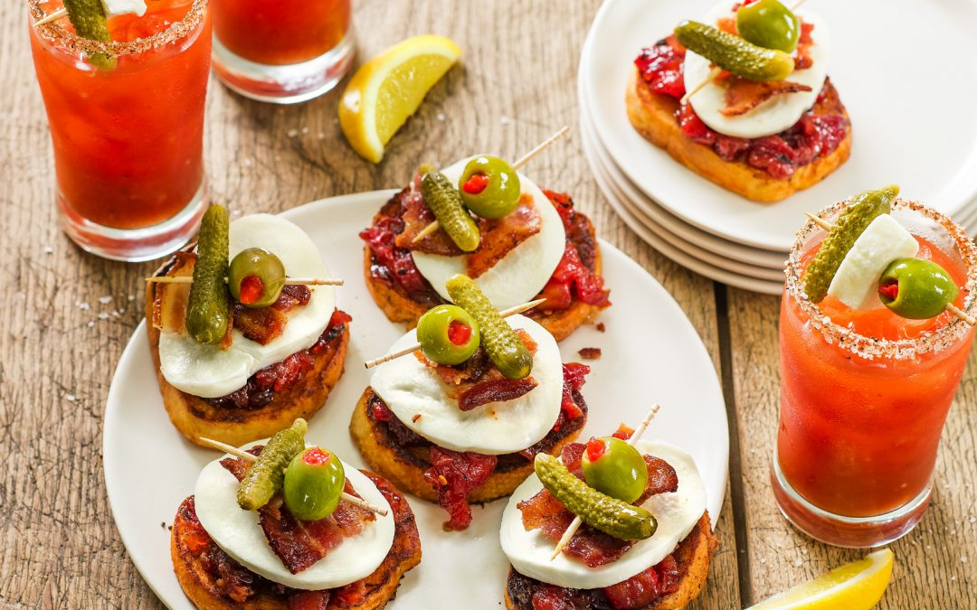 Bloody Mary Crostini