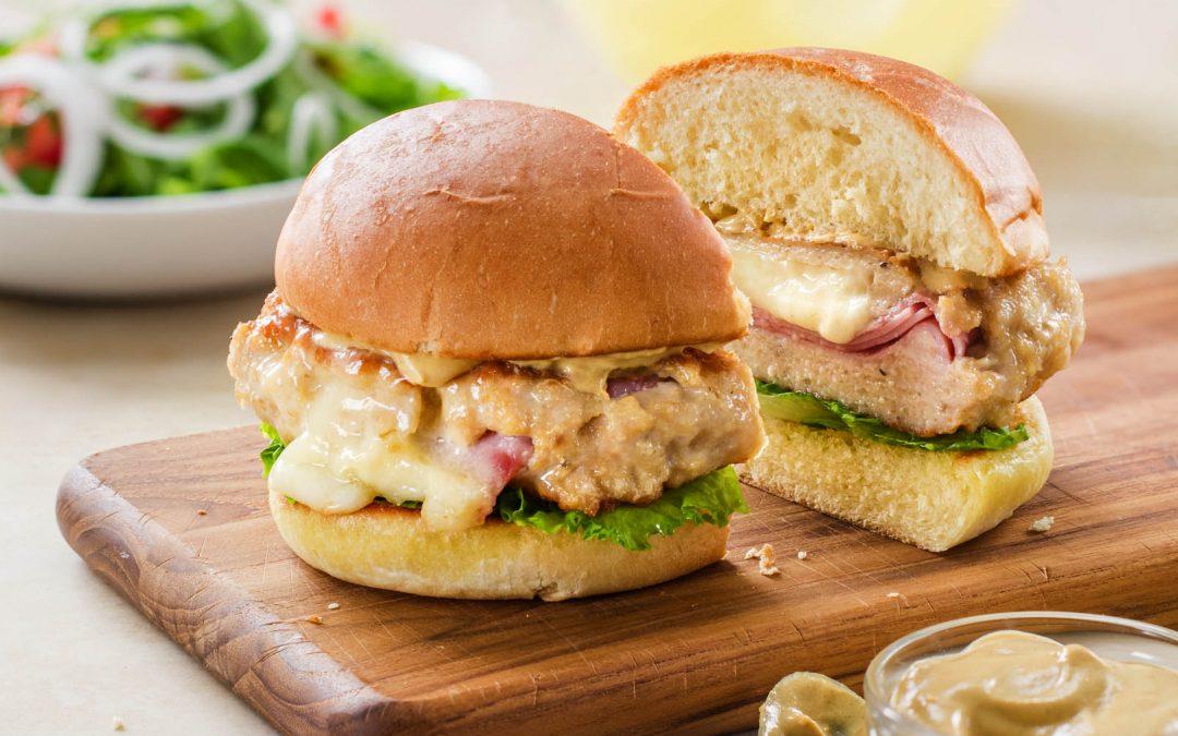 Chicken Cordon Bleu Burger