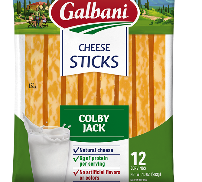 Colby Jack Stick Cheese - Galbani Cheese