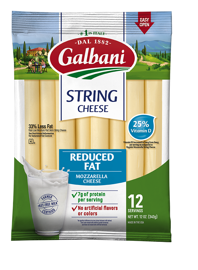 Reduced Fat Mozzarella String Cheese - Galbani Cheese
