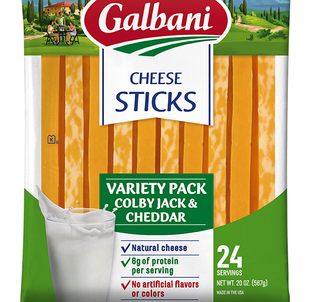 Colby Jack-Mild Cheddar Cheese Sticks Variety Pack - Galbani Cheese