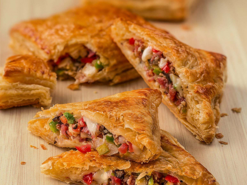 Antipasto Stuffed Pastry - Galbani Cheese