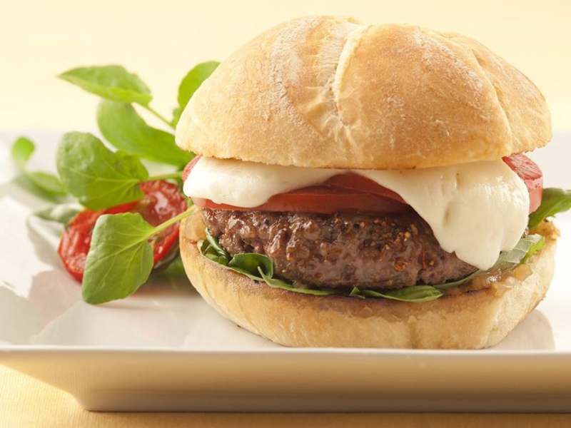 Caprese Burger - Galbani Cheese