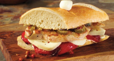 Grilled Chicken on Baguette with Ricotta and Artichoke Mayo - Galbani Cheese