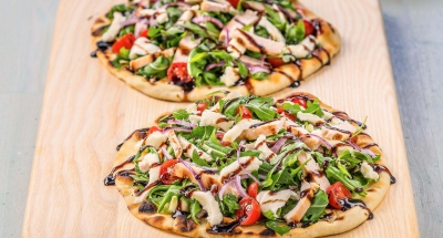 Chicken Milanese Grilled Pizza - Galbani Cheese