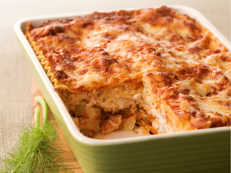 Chicken, Roasted Fennel, and Cauliflower Lasagna - Galbani Cheese
