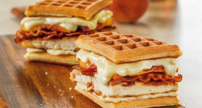 Chicken and Waffles Grilled Cheese - Galbani Cheese
