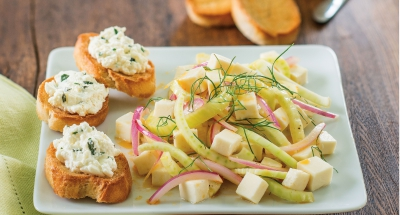 Fennel Salad with Ricotta Toast - Galbani Cheese