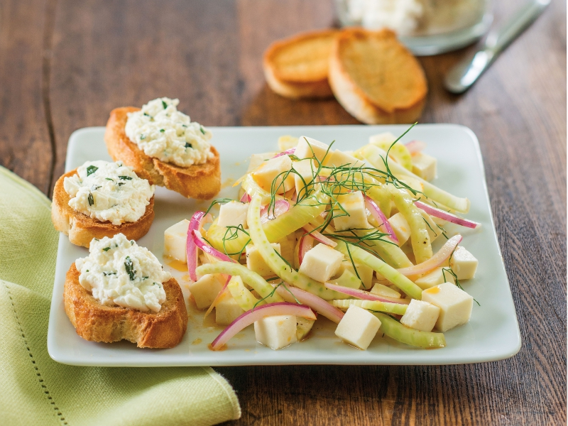 Fennel Salad with Ricotta Toast - Galbani Cheese