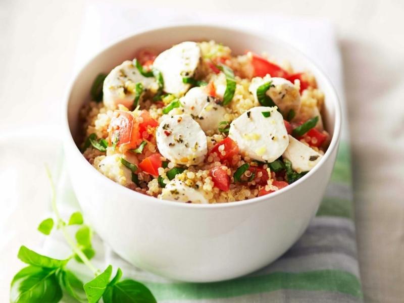 Quinoa Caprese Salad - Galbani Cheese