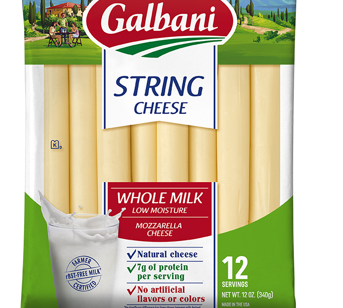 Whole Milk Mozzarella String Cheese - Galbani Cheese