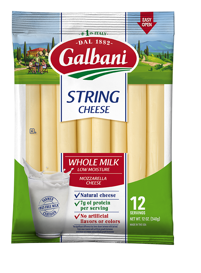 Whole Milk Mozzarella String Cheese - Galbani Cheese