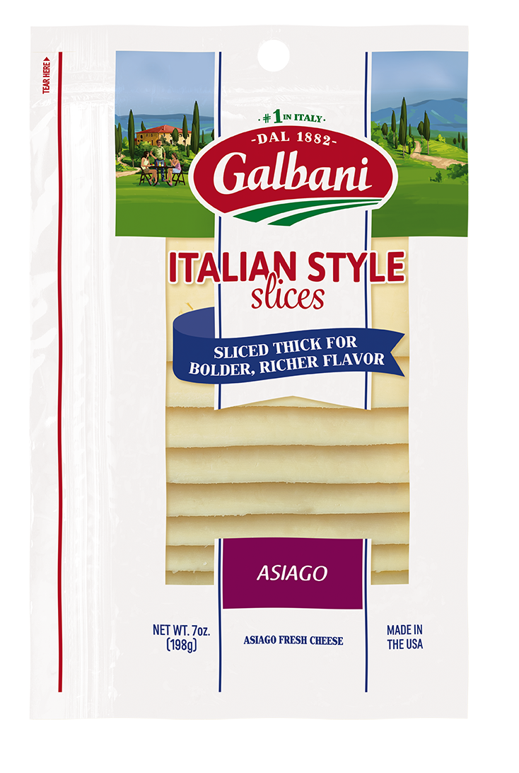 Thick Sliced Asiago - Galbani Cheese