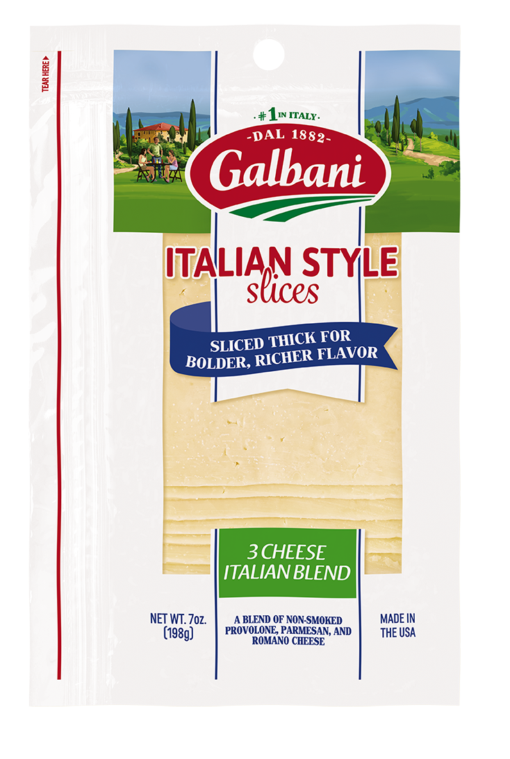 Thick Sliced 3 Cheese Italian Blend - Galbani Cheese