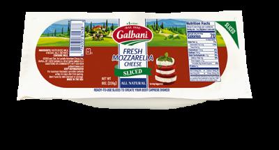 Fresh Mozzarella Mini Sliced Log - Galbani Cheese