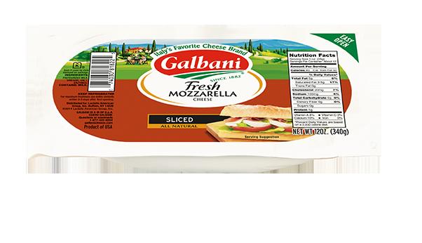 Fresh Mozzarella Sliced Log - Galbani Cheese