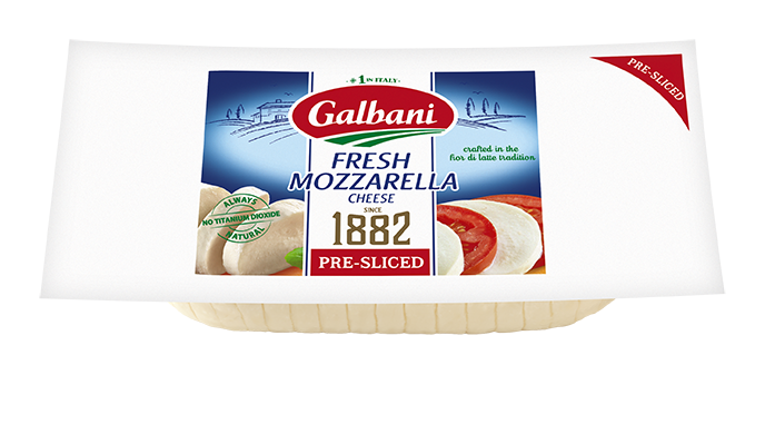 Fresh Mozzarella Pre-Sliced Log - Galbani Cheese