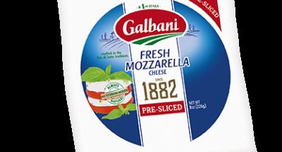Fresh Mozzarella Sliced Ball - Galbani Cheese