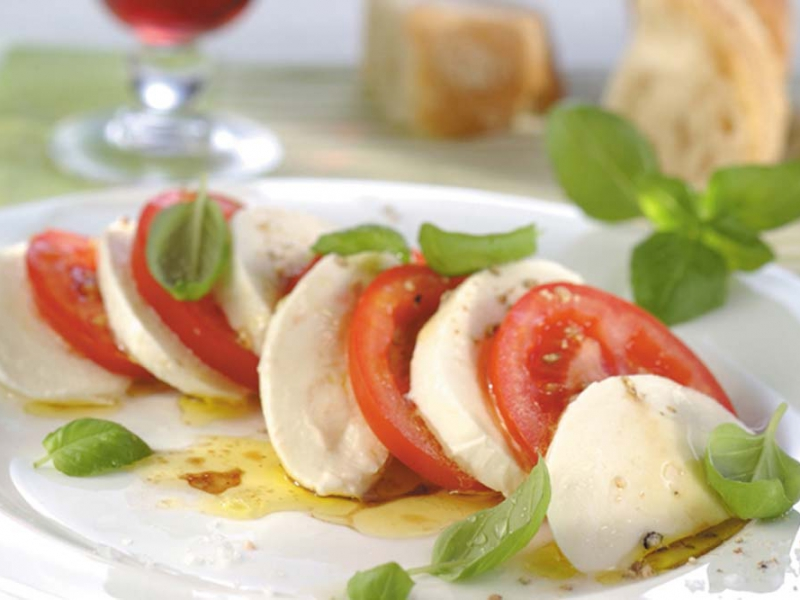 Caprese Salad with Guacamole - Galbani Cheese