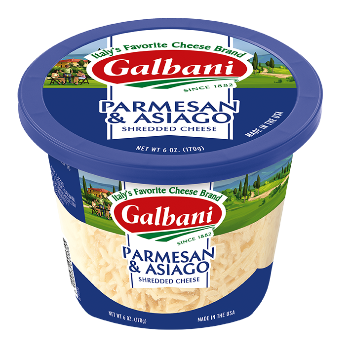 Shredded Asiago & Parmesan cheese - Galbani Cheese