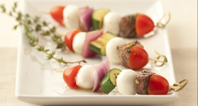 Grilled Beef Skewers with Fresh Mozzarella - Galbani Cheese