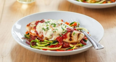 Grilled Chicken Parmesan with Zoodles - Galbani Cheese