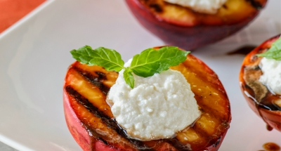 Grilled Peaches with Ricotta and Balsamic - Galbani Cheese