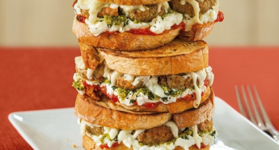 Mediterranean Meatball Grilled Cheese - Galbani Cheese