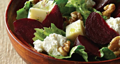 Fresh Mozzarella, Beets, Walnuts, and Escarole with Ricotta Salad - Galbani Cheese